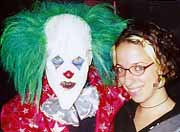 Brown radio producer with clown
