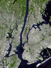 NYC as seen from space