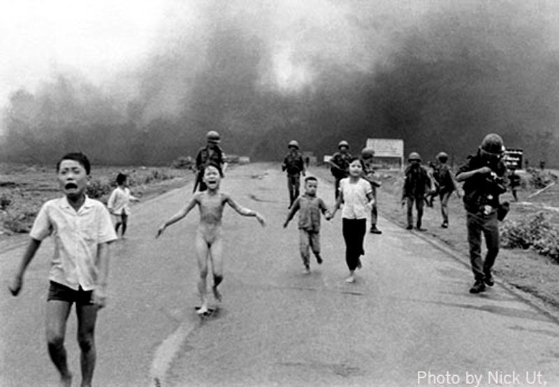 Vietnamese Girl Fleeing in Terror After a Napalm Attack. By Nick Ut (Vietnam, 1972) © Associated Press