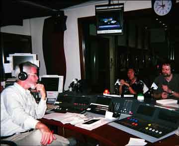 Chris Lydon in the studio
