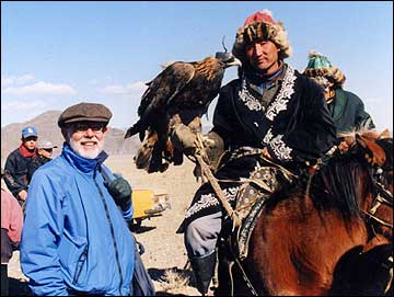 Corey and Kazahk Eagle Hunter