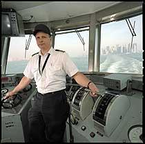 Island ferry captain James Parese