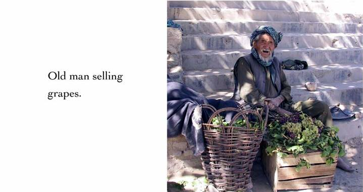 Old man selling grapes