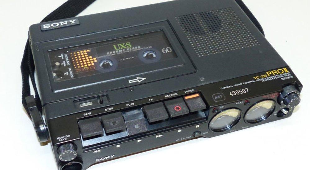 Sony Tc D5m Analog Audiocassette Recorder Transom