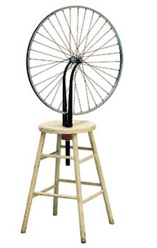 Bicycle Wheel and Stool