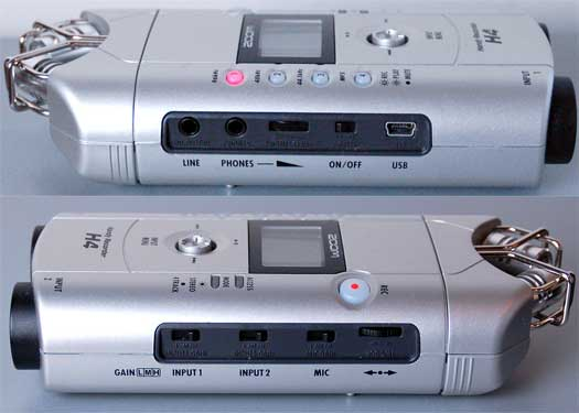 Zoom H4 left and right side
