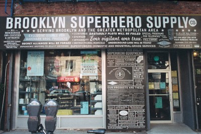 Brooklyn Superhero Supply Co store sign