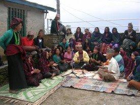 Singers on Doko Radio in Barpak
