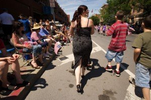 Billie Jean at the Flag Day Parade