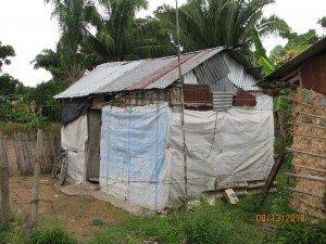 Photo of plastic bag shack