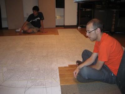 Neil Greenberg, Zak Rosen and the map