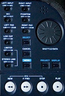 Tascam HD-P2 controls