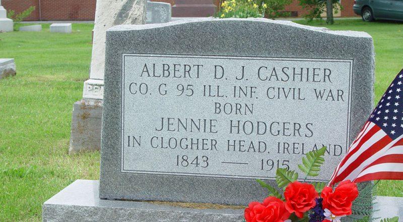 Jennie Hodgers/Albert Cashier's tombstone