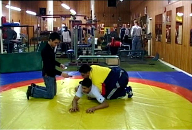 Dan with Wrestlers