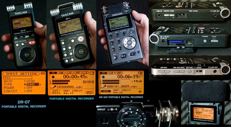 Tascam DR-series recorders