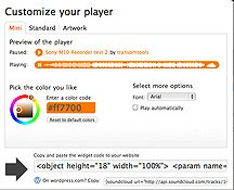 Soundcloud Custom player