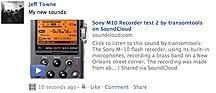 Soundcloud via Facebook
