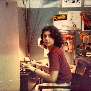 Neenah Ellis in 1981 working as a production assistant at All Things Considered