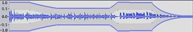 Volume automation in Audacity