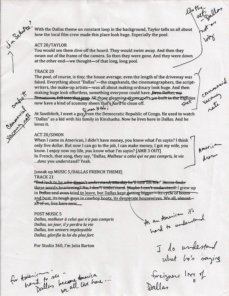 Julia Barton Script