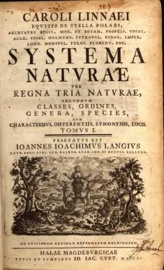 Systema Naturae Cover