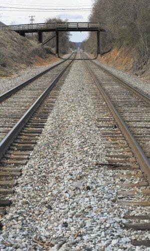 Tracks cut across my hometown of Salisbury, NC. (Photo by Jon Lakey)