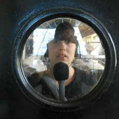 Erin on a recording mission photo