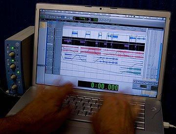 Laptop Audio Editing