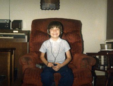 Sterling as a boy Headphones