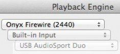 PLayback Engine dialog window
