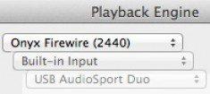 PLayback Engine dialog window