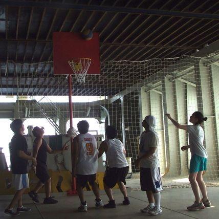 Basketball on the ship.