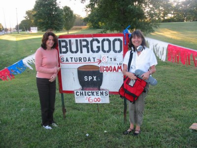 Kitchen Sisters with Burgoo sign