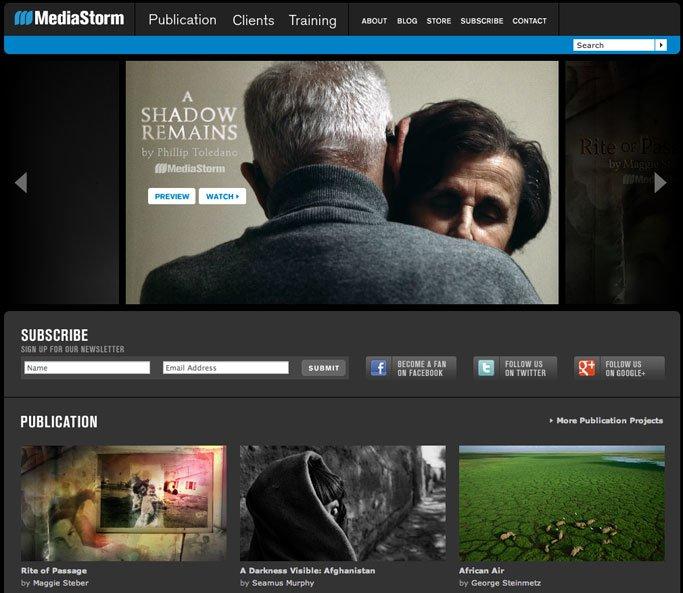 MediaStorm.com Home Page