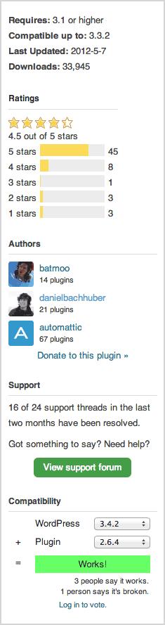 Screenshot of WordPress Plugin Stats