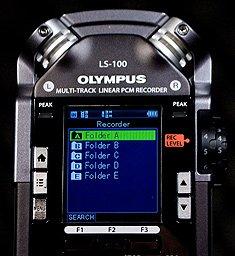 Olympus LS-100 Folders