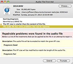 AudioFileFirstAid