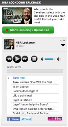 ESPN's record -your-own Audioboo