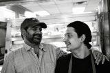 Zeeshawn Kasmi with Uncle Sabir at Kings Fried Chicken