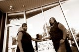LaShawn Glasgow and Tiffany Thomas at Shear Intensity Hair Salon