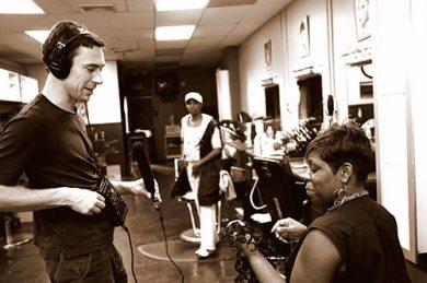 Aaron Henkin interviews LaShawn Gasgow at Shear Intensity Hair Salon, 3338 Greenmount