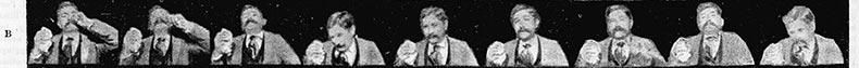 Thomas Edison, movie still of a sneeze