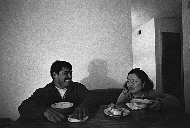 Mario and Angelica, an undocumented immigrant couple, photo by Julian Cardona