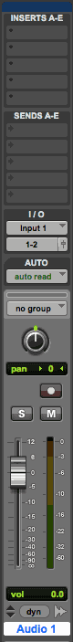 Pro Tools (screenshot) channel strip