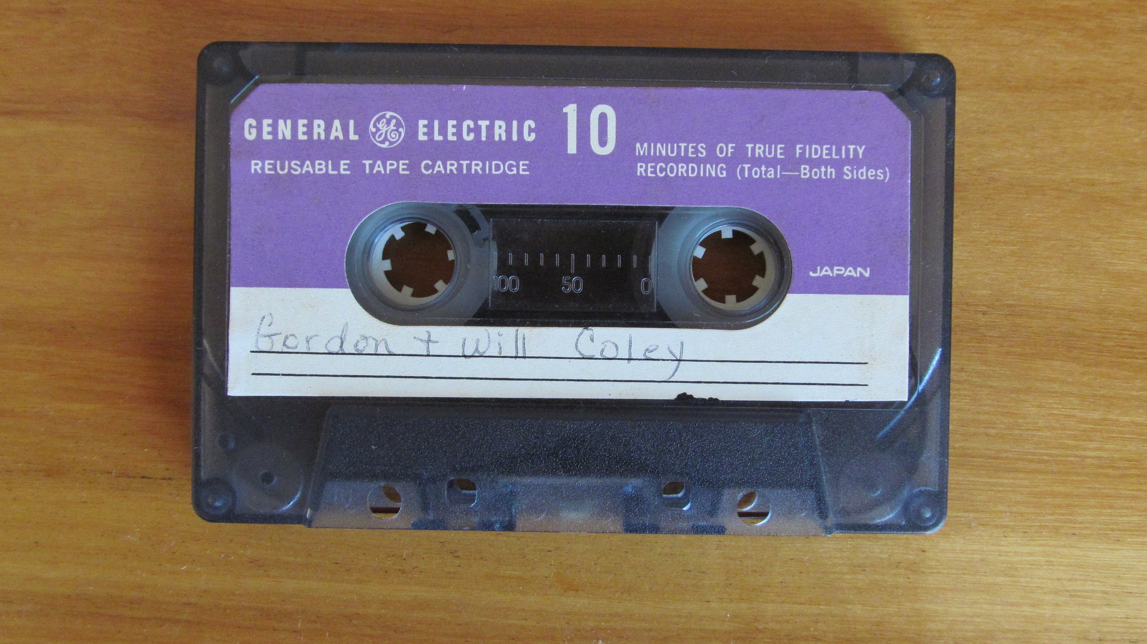 photo of one of Will's found cassette tapes