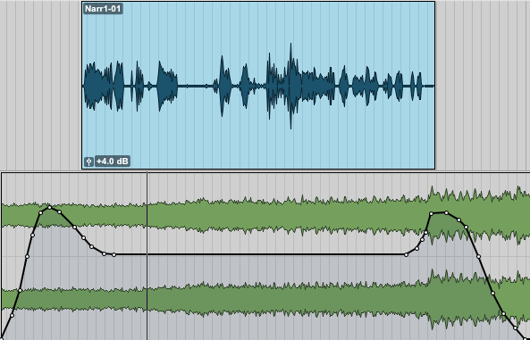 Pro Tools: Mix- Volume Breakpoints duck under