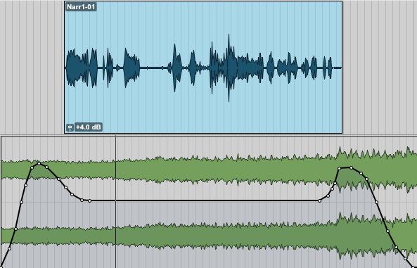 Pro Tools: Mix- Volume Breakpoints duck under