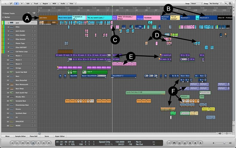"Screenshot of ""Jack and Ellen"" editing session"