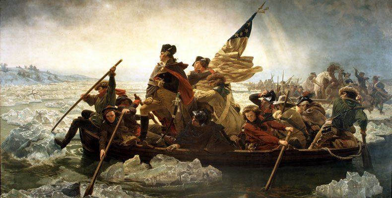 Cross The Delaware by Emanuel Gottlieb Leutze. The inspiration for the class photo above.