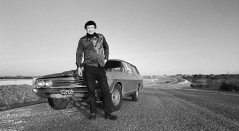 "Somewhere before San Antonio, the sun goes down behind us and I think: ''This guy's a 1960s model, just like his car. Neither one of them are making it very well into the 1980s.'"" — Scott Carrier, ""The Hitchhiker"""